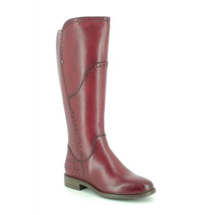 Tamaris Knee High Boots - Wine leather - 25539/23/536 LILLIT