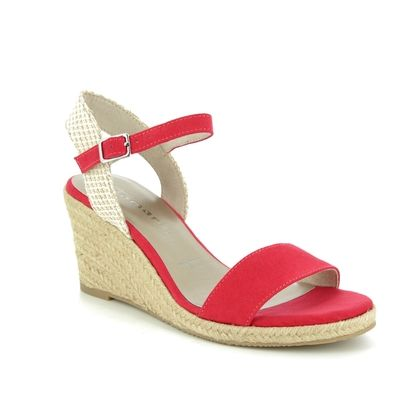 Tamaris Wedge Sandals - Red multi - 28300/22/545 LIVIA  91