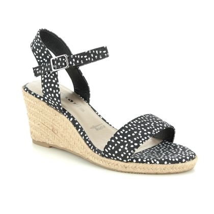 Tamaris Wedge Sandals - Black - 28300/24/028 LIVIA  91