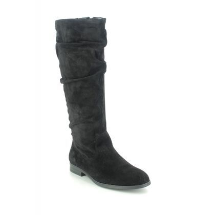 Tamaris Knee High Boots - Black Suede - 25545/25/001 LOTE