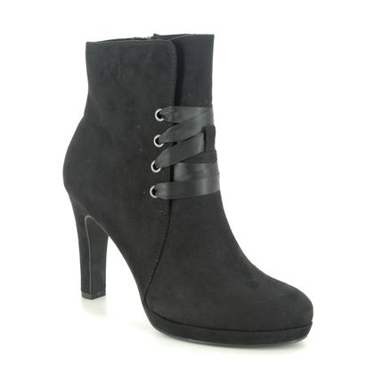 Tamaris Heeled Boots - Black - 25155/25/001 LYCORIS TIE
