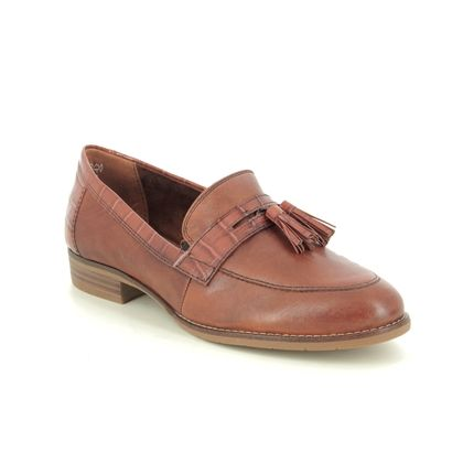 Tamaris Loafers and Moccasins - Tan Leather - 24200/25/305 MALIKA