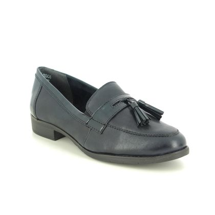 Tamaris Loafers and Moccasins - Navy Leather - 24200/25/805 MALIKA