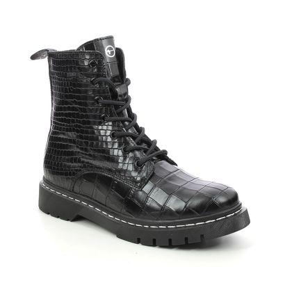 Tamaris Biker Boots - Black croc - 25865/27/028 MARISODOC