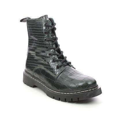Tamaris Biker Boots - Olive croc - 25865/27/725 MARISODOC