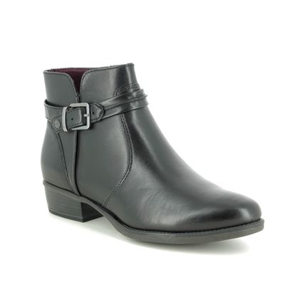 Tamaris Boots - Ankle - Black leather - 25364/23/001 MARLBUCK