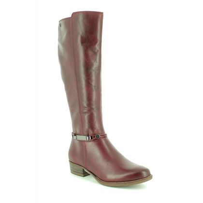 Tamaris Knee High Boots - Wine leather - 25509/21/536 MARLY  85