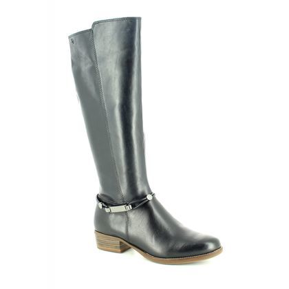 Tamaris Knee High Boots - Navy Leather - 25509/21/805 MARLY  85