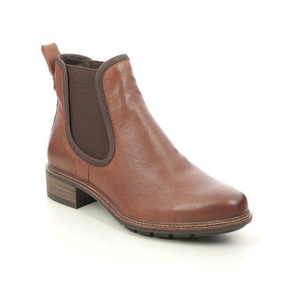 Tamaris Chelsea Boots - Tan Leather - 25440/27/348 MARLYCHEL