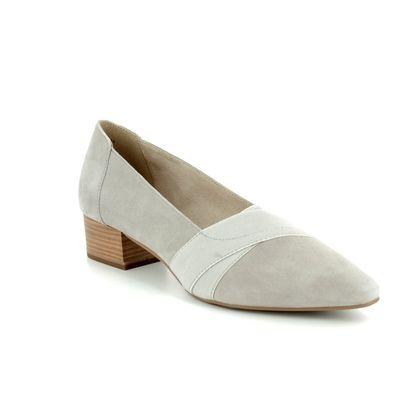Tamaris Court Shoes - Stone - 24418/30/205 MUNG