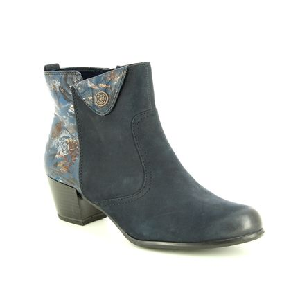 Tamaris Fashion Ankle Boots - Navy Leather - 25337/21/805 OCIFLEUR