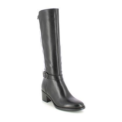 Tamaris Knee High Boots - Black leather - 25530/27/001 PAULETTALONG