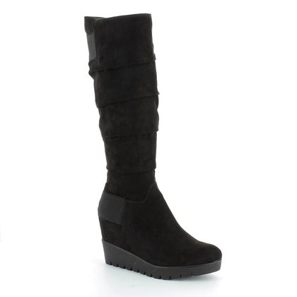 Tamaris Knee High Boots - Black Suede - 25624/001 PIMELA