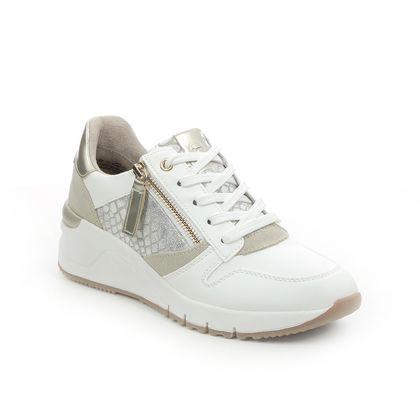 Tamaris Trainers - White Gold - 23702/26/928 REA