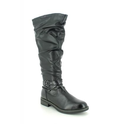 Tamaris Knee High Boots - Black - 25548/25/001 SHAE
