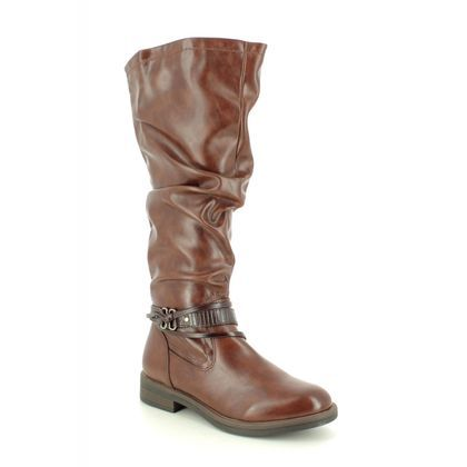 Tamaris Knee High Boots - Tan - 25548/25/306 SHAE