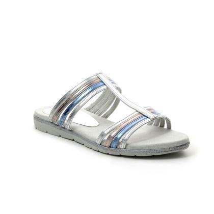 Tamaris Flat Sandals - Silver multi - 27106/22/948 SIDRA
