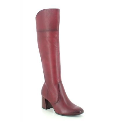 Tamaris Knee High Boots - Red leather - 25515/25/501 SOLO