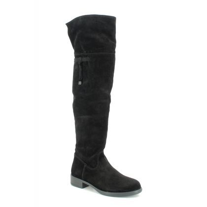 Tamaris Knee High Boots - Black Suede - 25537/23/001 TAINA OVER KNEE