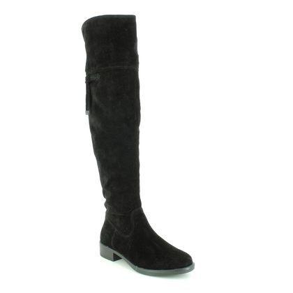 Tamaris Knee High Boots - Black Suede - 25537/23/001 TAINA OVER KNEE