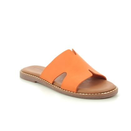 Tamaris Slide Sandals - Orange Leather - 27135/24/606 TOFFY