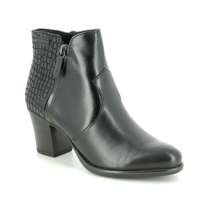 Tamaris Boots - Ankle - Black leather - 25338/25/097 TORA