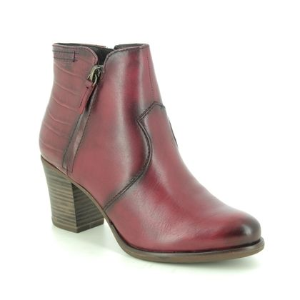 Tamaris Boots - Ankle - Red leather - 25338/25/585 TORA
