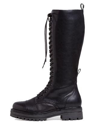 Tamaris Knee High Boots - Black leather - 25607/25/001 TRIS