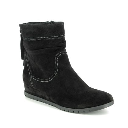 Tamaris Wedge Boots - Black Suede - 25046/23/001 VALENTINE