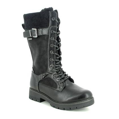 Tamaris Mid Calf Boots - Black - 26275/25/001 VINA