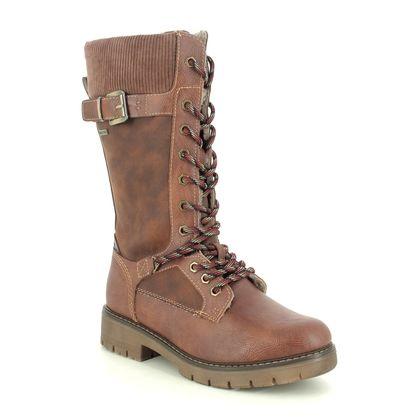 Tamaris Mid Calf Boots - Tan - 26275/25/305 VINA