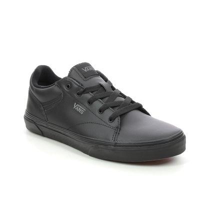 Vans Boys Trainers - Black - VN0A4U251/1I1 SELDAN YOUTH