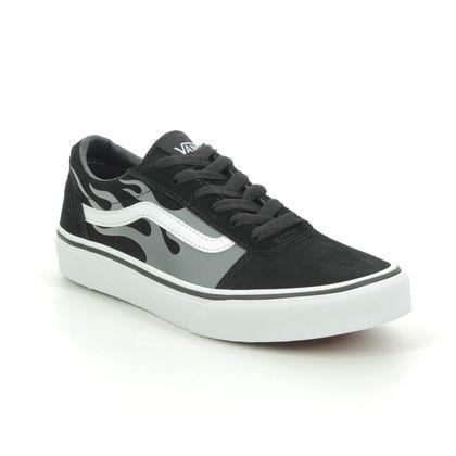 Vans Boys Trainers - Black grey - VN0A38J93/RV1 WARD FLAME