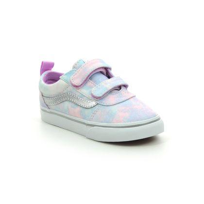 Vans Girls Trainers - Pink Glitz - VN0A4BTF3QT1 WARD INF VEL
