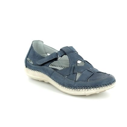 Walk in the City Comfort Slip On Shoes - Blue - 7105/16030 DAISLAT