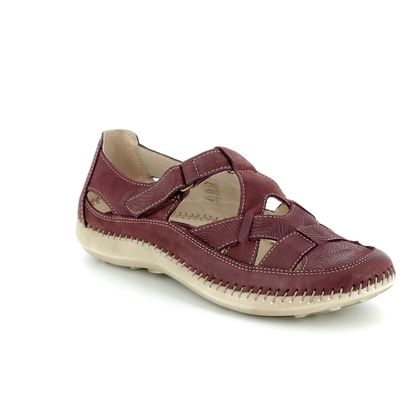 Walk in the City Comfort Slip On Shoes - Red - 7105/16030 DAISLAT