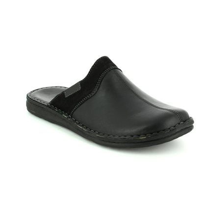 Walk in the City Slippers & Mules - Black leather - 2307/28800 LEAMU