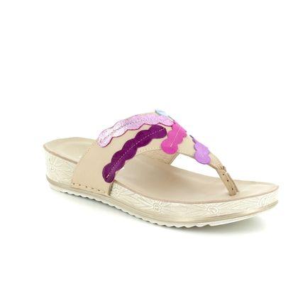 Walk in the City Toe Post Sandals - Fuchsia - 9673/40410 LULU