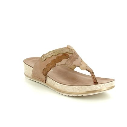 Walk in the City Toe Post Sandals - Taupe - 9673/40410 LULU