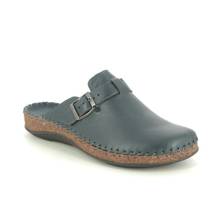 Walk in the City Slippers & Mules - Navy leather - 3861/36700 MULEIBEL