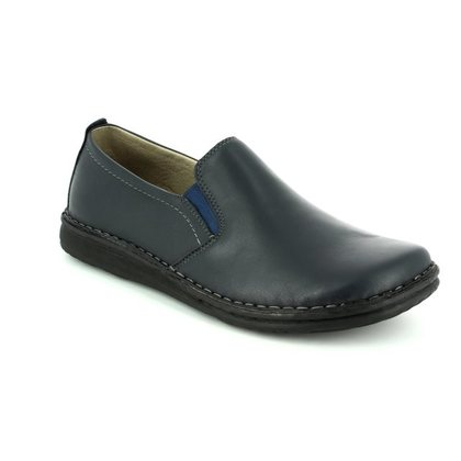 Walk in the City Slippers & Mules - Navy Leather - 2307/37660 NOBLEY
