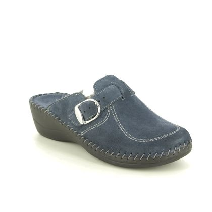 Walk in the City Slippers - Blue Suede - 3016P/19350 RELABETSY