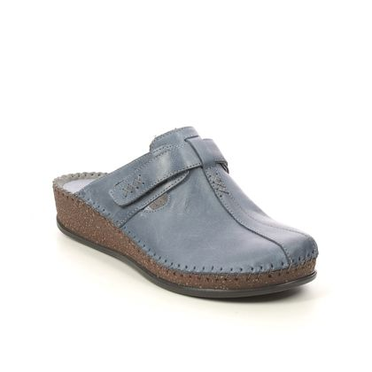 Walk in the City Slippers & Mules - BLUE LEATHER - 1124/16940 SULIVAN