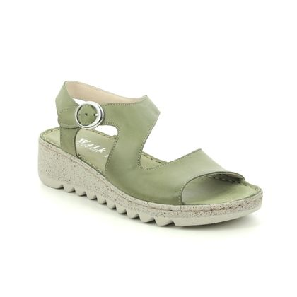 Walk in the City Comfortable Sandals - Green - 9371/36170 TRAMBA WIDE