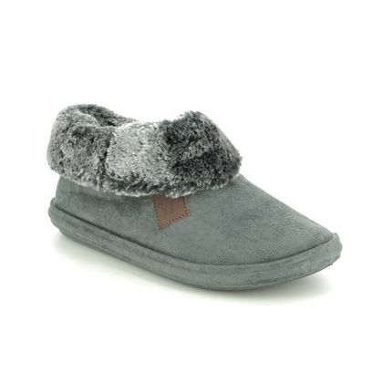 Begg Exclusive Slippers & Mules - Charcoal - 7710/00 CHILTERN