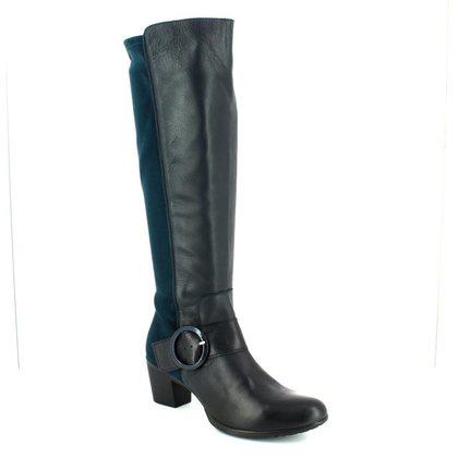 Wonders Knee High Boots - Navy - G4704/77 HEXWILL