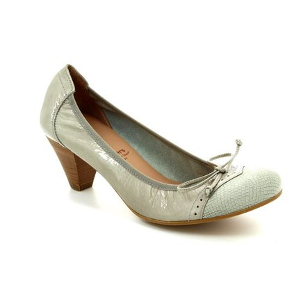Wonders Heeled Shoes - Beige patent-suede - I8391/50 IGUANA
