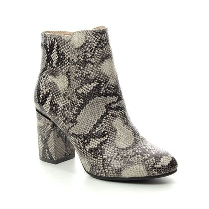 XTI Ankle Boots - Grey multi mock snake - 035160/01 ARENA
