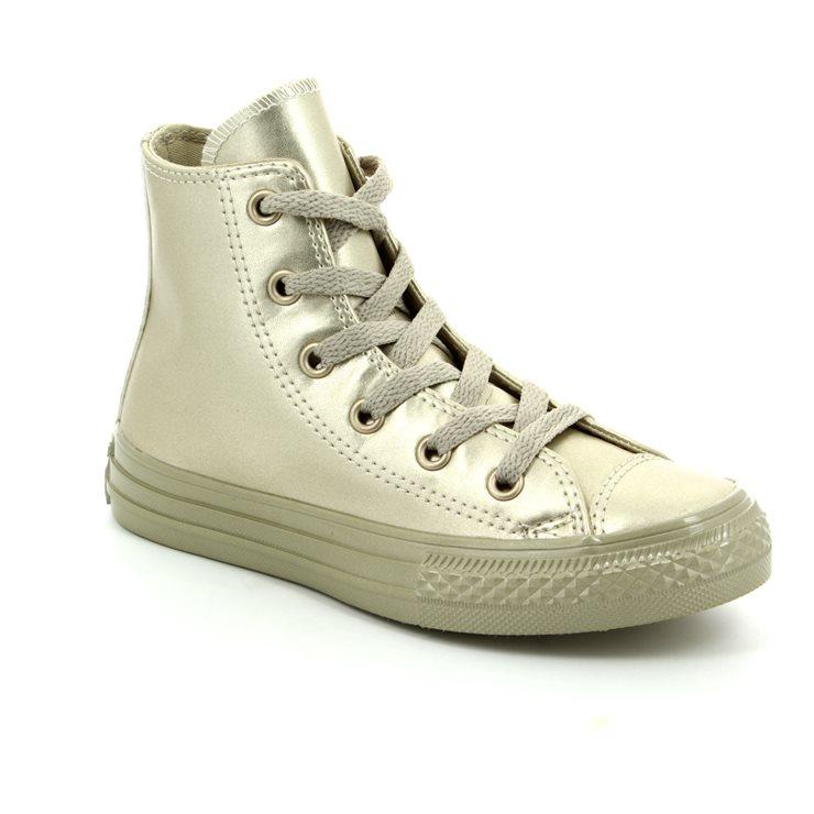 Converse Trainers - Gold - 357631C Chuck Taylor Junior ALL STAR HI TOP ... 81a3c40a8ce82