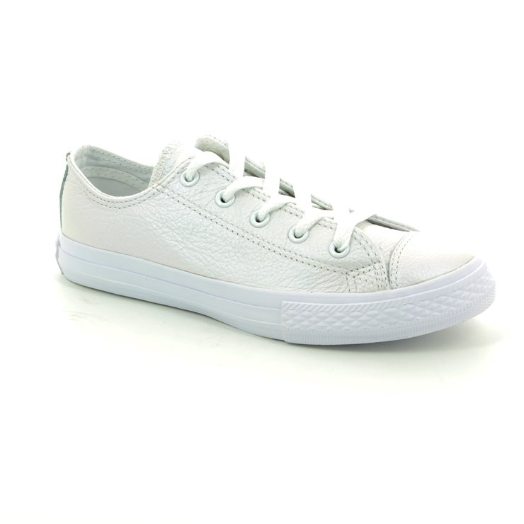 e3782ed2d762df Converse Trainers - White - 358009C Chuck Taylor All Star Ox Junior Leather  ...